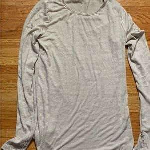 Long sleeved tee with thumb holes